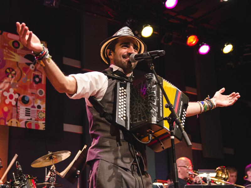 Gregorio Uribe performs at World Cafe Live in Philadelphia.