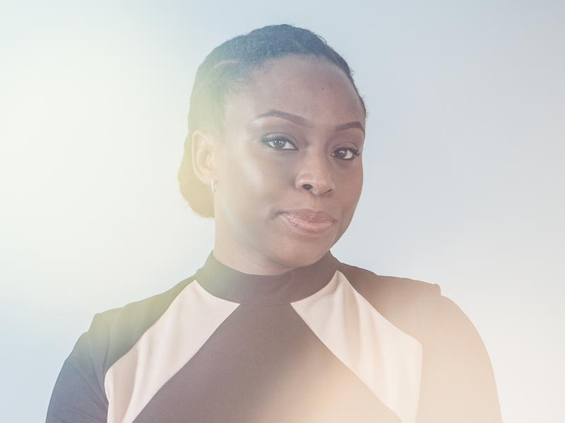 Chimamanda Adichie's novels include <em>Americanah</em> and <em>Half of a Yellow Sun</em>. The author is pictured here at NPR in February 2017.