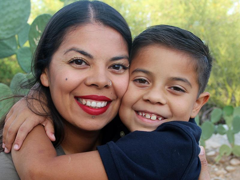 Chris López told her son Gabe, who's transgender, that she will always have his back.