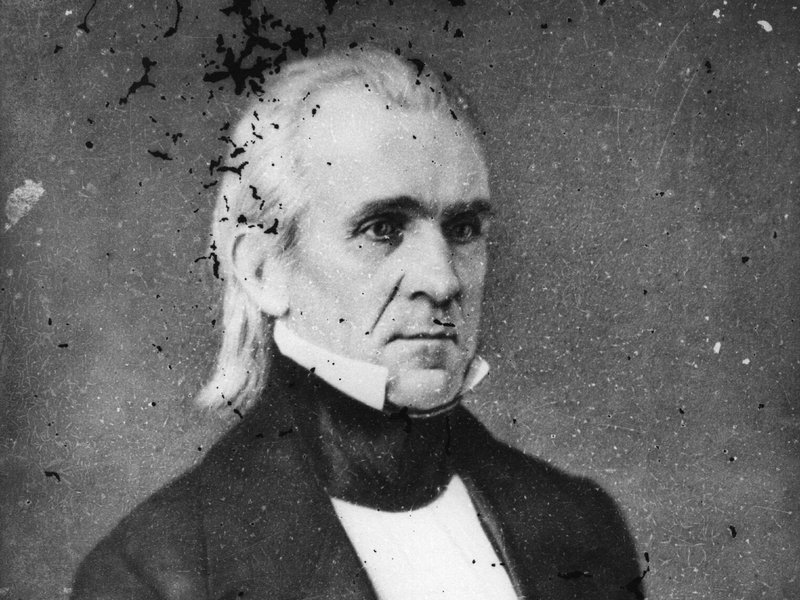 "James K. Polk, the 11th president of the U.S., was an unassuming figure. First lady Sarah Childress Polk had the Marine Band play ""Hail to the Chief"" so people would notice when he entered the room."