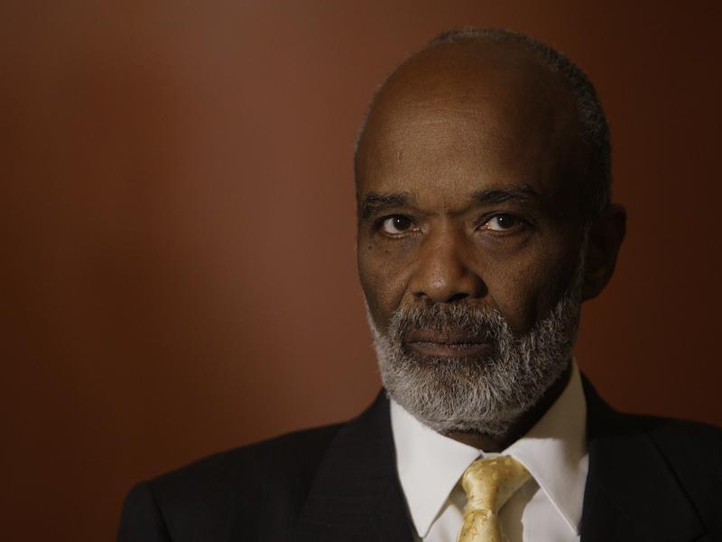 Former Haitian President Rene Preval, shown here in 2010 in Washington D.C.,  has died.