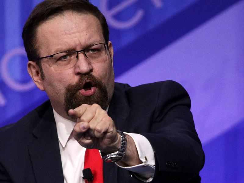 Deputy assistant to President Trump Sebastian Gorka participates in a discussion during the Conservative Political Action Conference on Feb. 24 in National Harbor, Maryland.