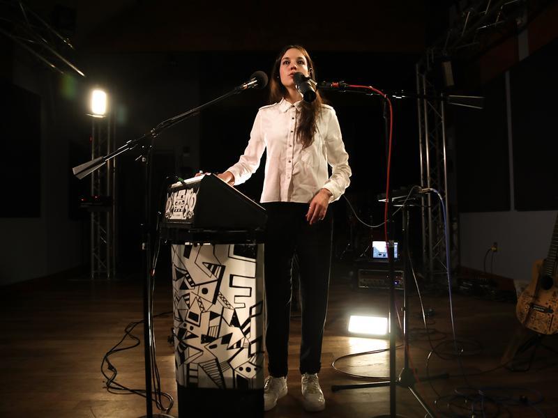 Jain performs in the <em>World Cafe</em> studio at WXPN in Philadelphia.