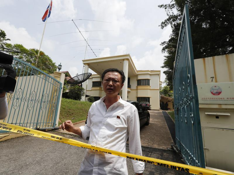 A North Korean Embassy staff member asked Malaysian police if he was allowed to leave the embassy grounds in Kuala Lumpur on Tuesday. Malaysia banned North Korean citizens from leaving the country after North Korea issued an exit ban for 11 Malaysian citizens in North Korea.