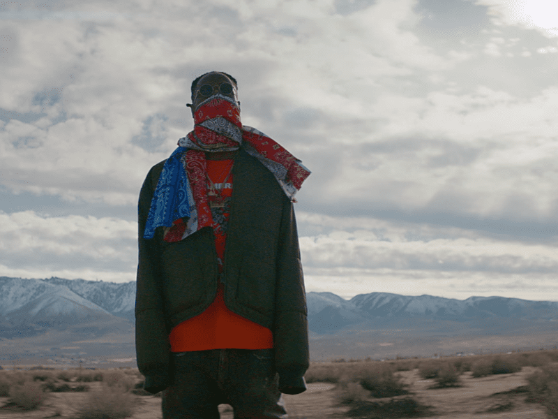 """Joey Bada$$ in the video for """"Land of the Free,"""" which he co-directed with Nathan R. Smith."""