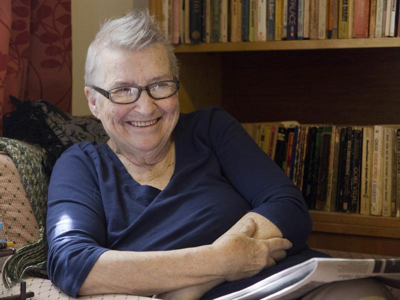 Lynne Stewart at her home in Brooklyn, New York, in 2016.