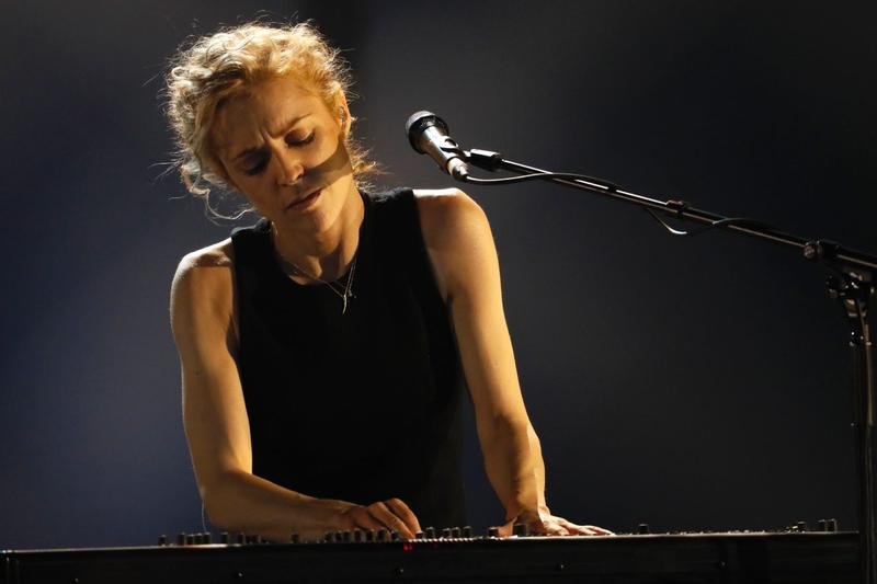 Danish singer Agnes Obel perfoms at the 32nd Victoires de la Musique, the annual French music awards ceremony in 2017 in Paris. (Thomas Samson/AFP/Getty Images)