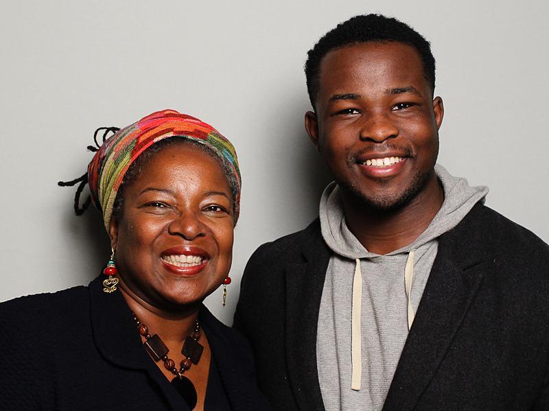Toni Henson, 53, and her son, Camaran, 23, at StoryCorps in Atlanta.