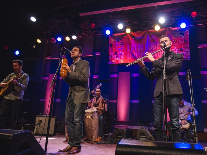 "Los Hacheros perform at World Cafe Live for a ""Latin Roots Live!"" concert."