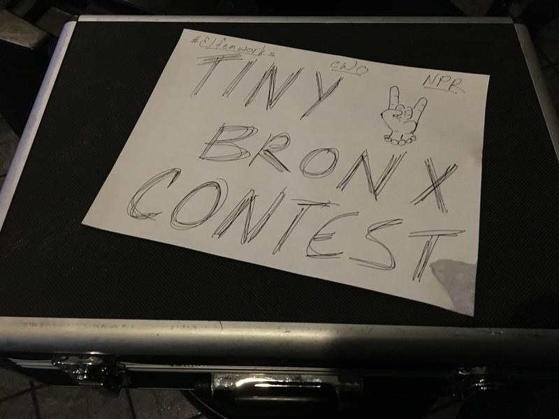 "A collective of musicians from Bronx, N.Y., got together in late January to film video entries to NPR's Tiny Desk Contest — the ""Tiny Bronx Contest."""