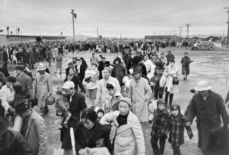 The Tule Lake concentration camp in California, 1945. (Courtesy Japanese American National Museum, gift of Jack and Peggy Iwata)
