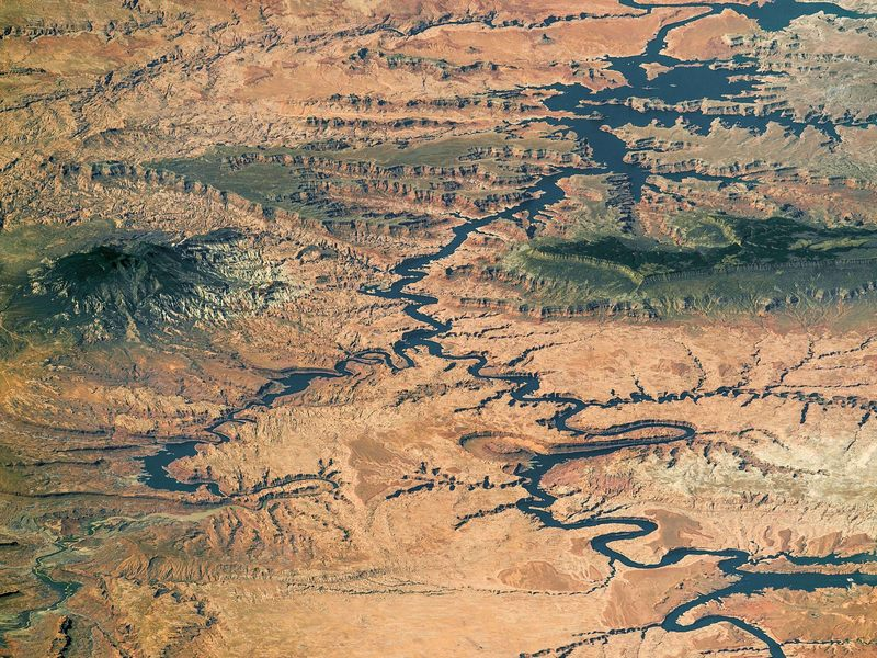 A view of the Colorado River in southern Utah and northern Arizona.