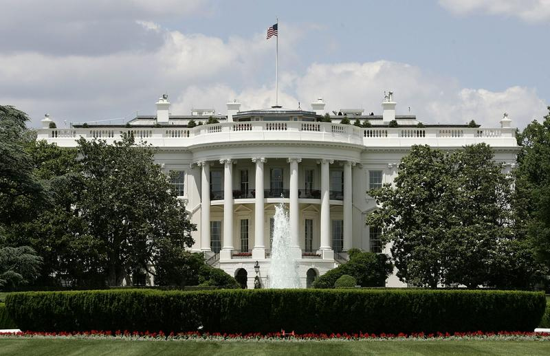 The exterior view of the south side of the White House is seen May 31, 2005 in Washington. (Alex Wong/Getty Images)
