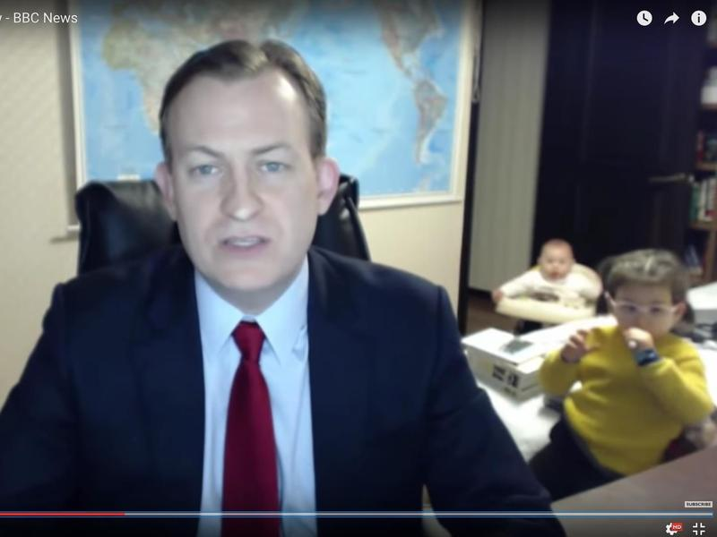 Korean peninsula analyst Robert E. Kelly earned widespread empathy after his kids provided an expected spot of comic relief in a live appearance on the BBC on Friday.
