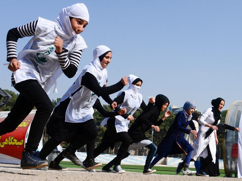 Current school uniforms let Afghan girls run.