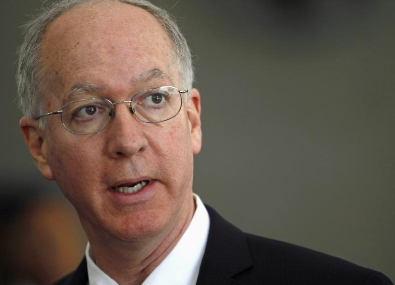 U.S. Rep. Bill Foster, D-Ill., speaks at a news conference in Chicago. (Stacy Thacker/AP)