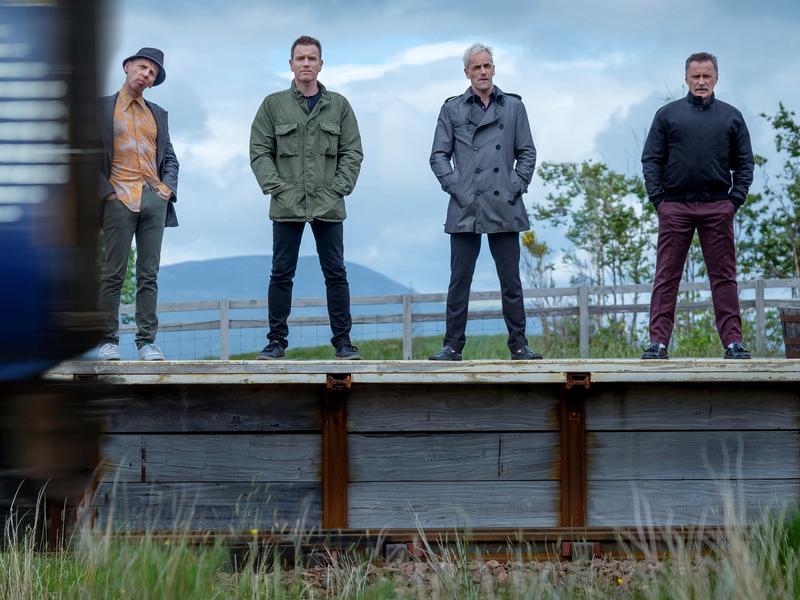 Getting the band back together: Ewen Bremner, Ewan McGregor, Jonny Lee Miller and Robert Carlyle return for <em></em><em>T2 Trainspotting.</em>