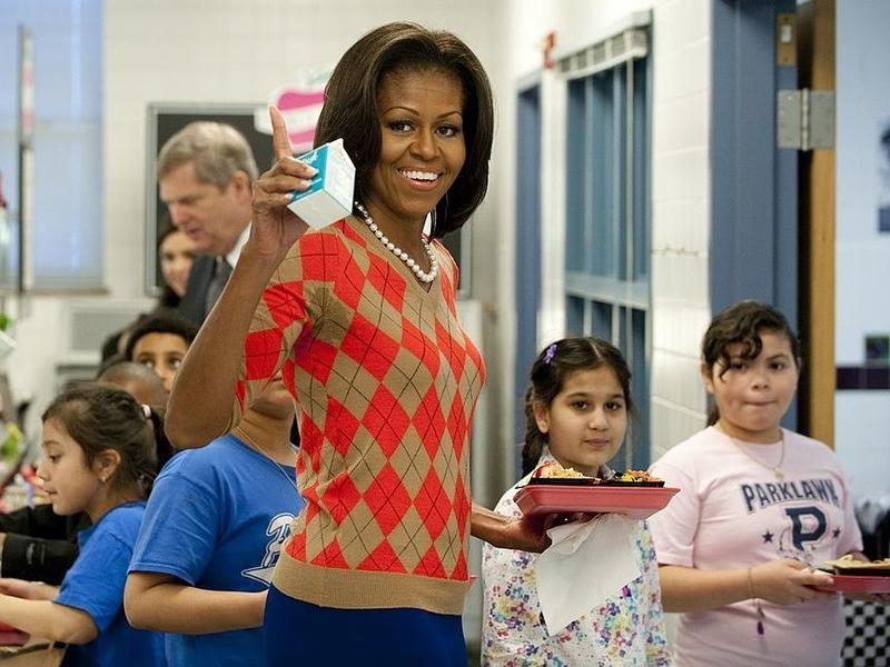 Trump Administration Rolls Back Michelle Obama 39 S Healthy School Lunch Push Wnyc