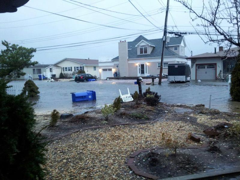 A view of Toms River, New Jersey, following heavy rain.