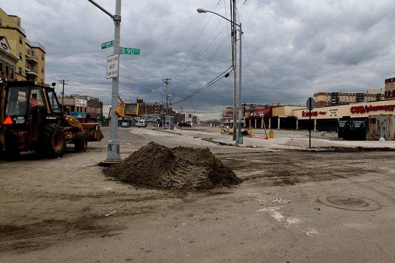 Far Rockaway after Hurricane Sandy.