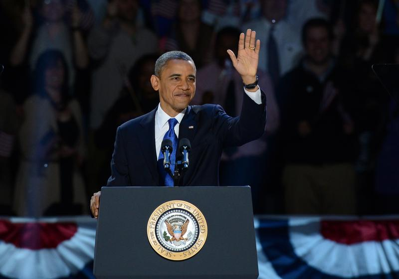 President Obama on Election Night 2012.