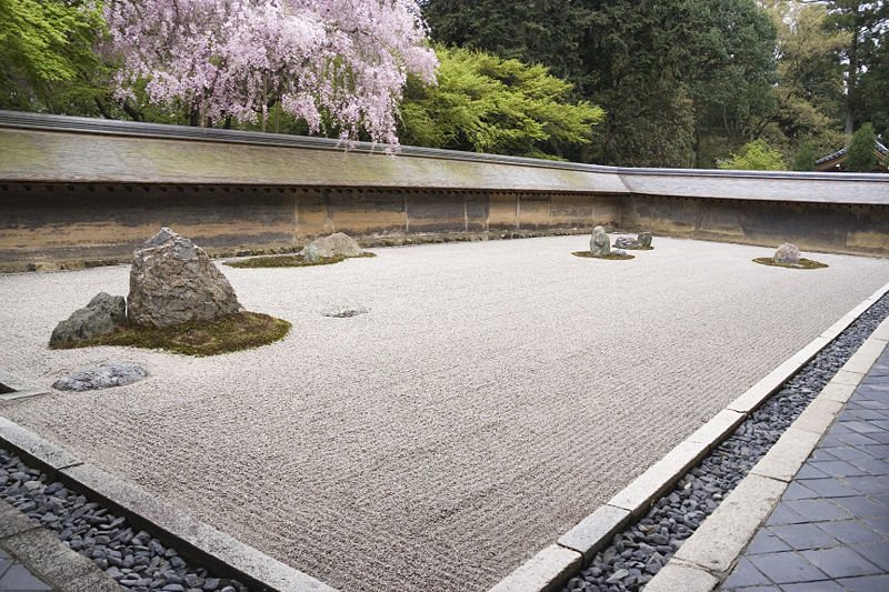 Ryoanji, zen garden (Kyoto, Japan)