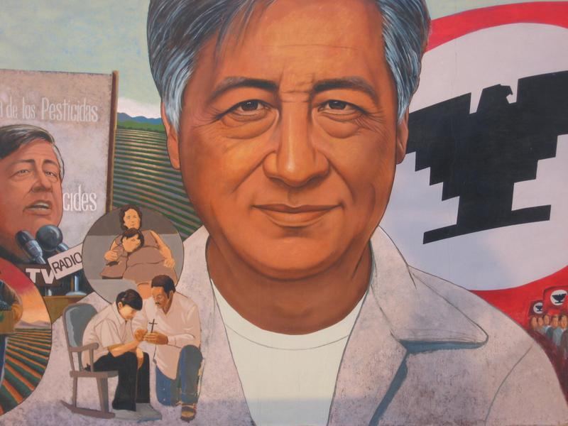 Home of c sar ch vez now a national monument the for Cesar chavez mural