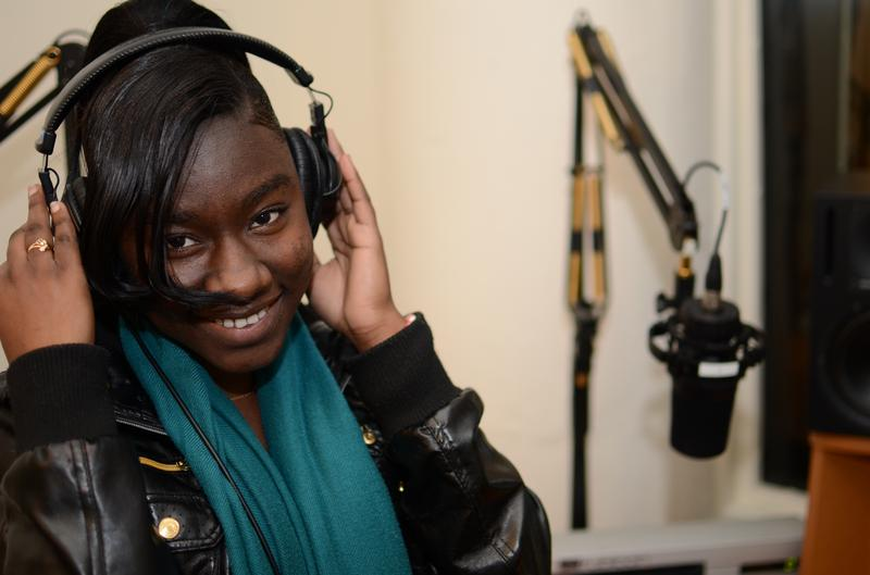 Radio Rookie Tangeneka Taylor in the studio