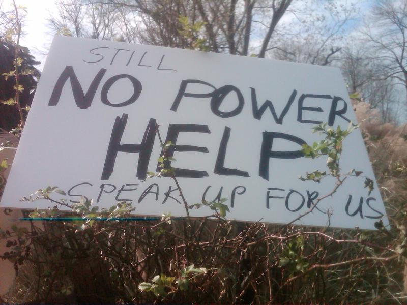 A plea for power at a home in Medham township, New Jersey