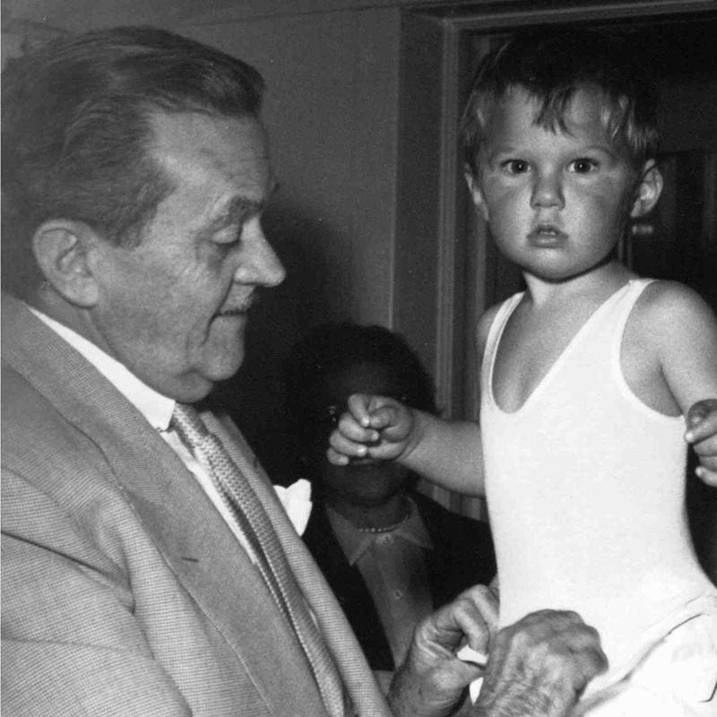 Willie Wilkerson with his father, 1953