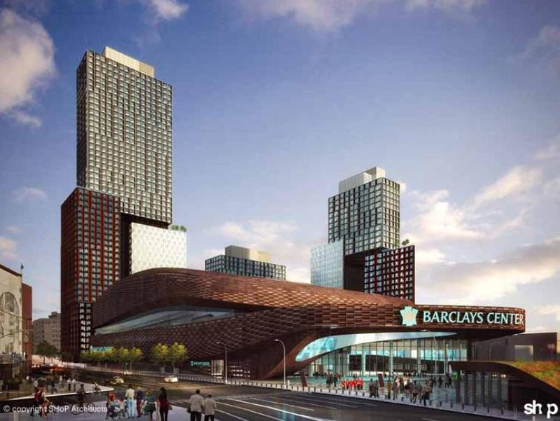 The current renderings for Atlantic Yards.