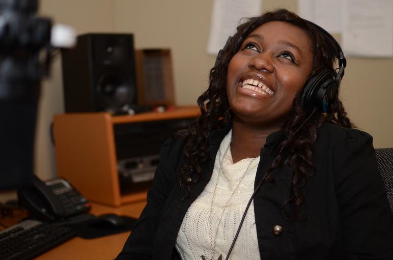 Radio Rookie Danielle in the studio