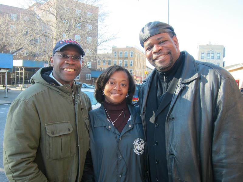 (from left to right) Dr. Robert M. Waterman, Pastor of Antioch Baptist Church, Sharon Devonish-Leid and Reverend Joseph Jones participate in Project Safe Surrender