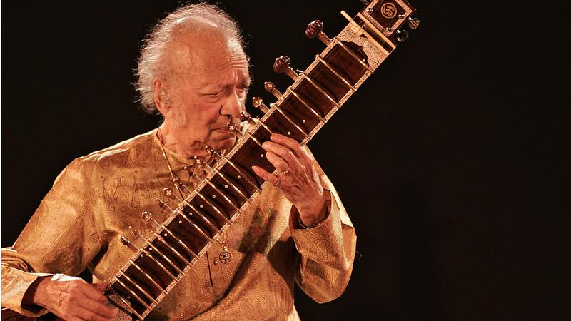 Indian sitar maestro Ravi Shankar performs  at the Dover Lane Music Conference in Kolkata in Feb. 2009.