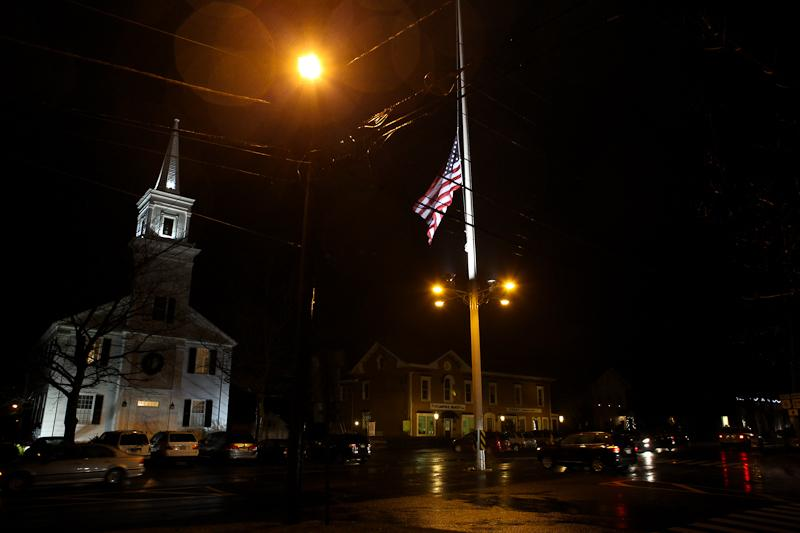 The Newtown, Conn., town hall, near the Sandy Hook Elementary School.
