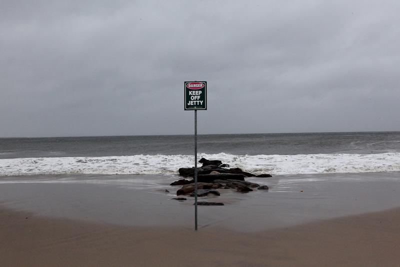 Beaches are closed for Hurricane Sandy