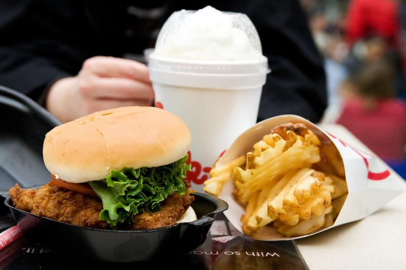 Food from Chick-Fil-A