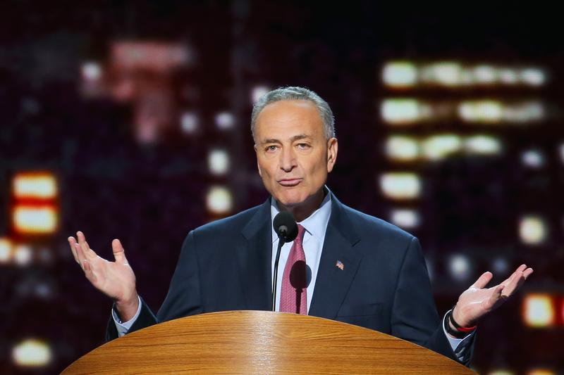 Sen. Charles E. Schumer (D-NY) speaks during day two of the Democratic National Convention at Time Warner Cable Arena on September 5, 2012 in Charlotte, North Carolina.
