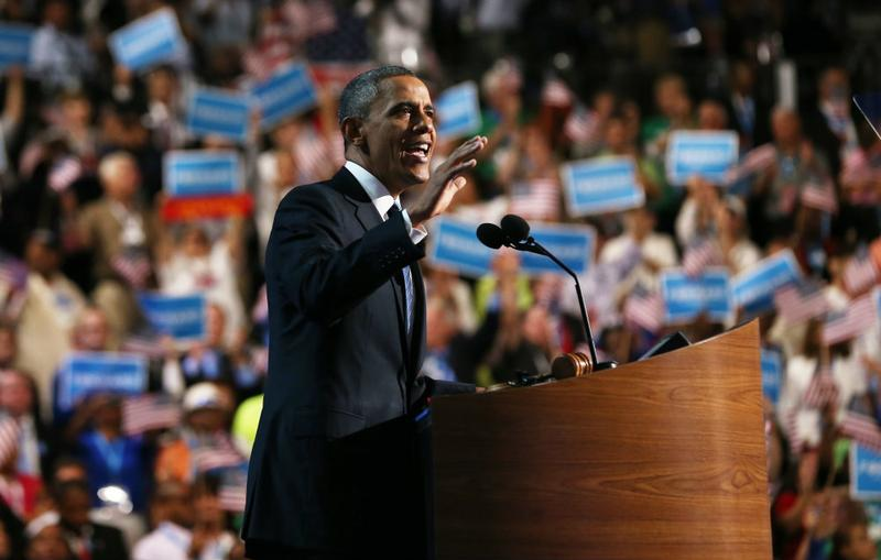 President Barack Obama addresses the Democratic National Convention and accepts the nomination.