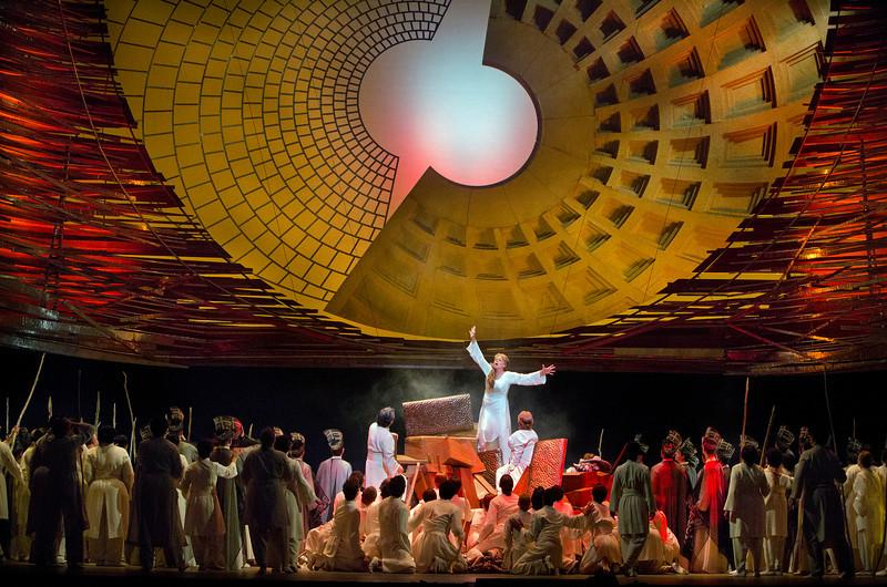 A scene from Berlioz's 'Les Troyens' at the Met, which has seen multiple cancellations this season.