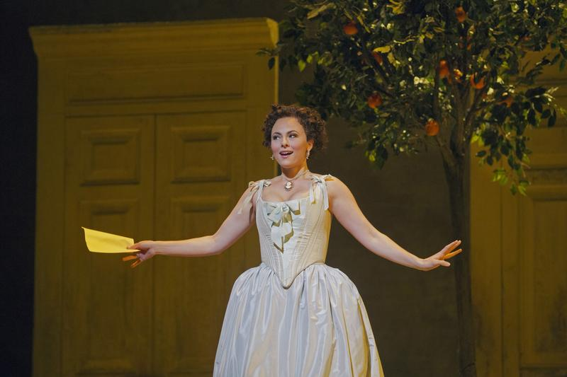 "Isabel Leonard as Rosina in ""The Barber of Seville"" at the Metropolitan Opera"