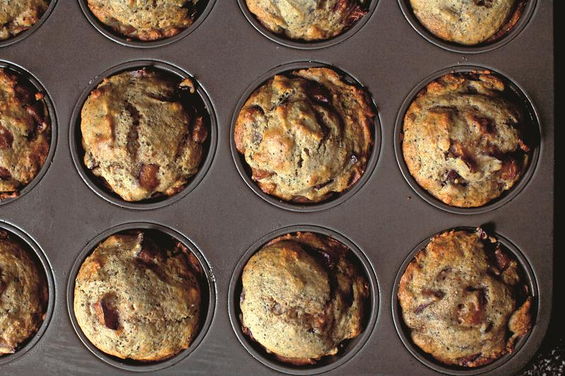 Plum Poppy Seed Muffins, from The Smitten Kitchen Cookbook, by Deb Perelman