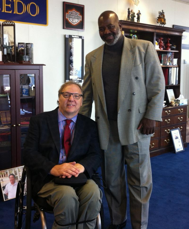 John Hockenberry and Michael Bell, mayor of Toledo.
