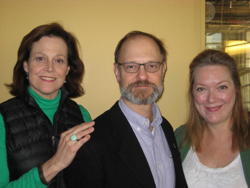 Sigourney Weaver, David Hyde Pierce, and Kristine Nielsen at WNYC November 29, 2012