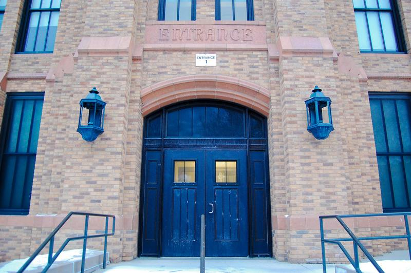 Entrance to the Al Raby School in Chicago.