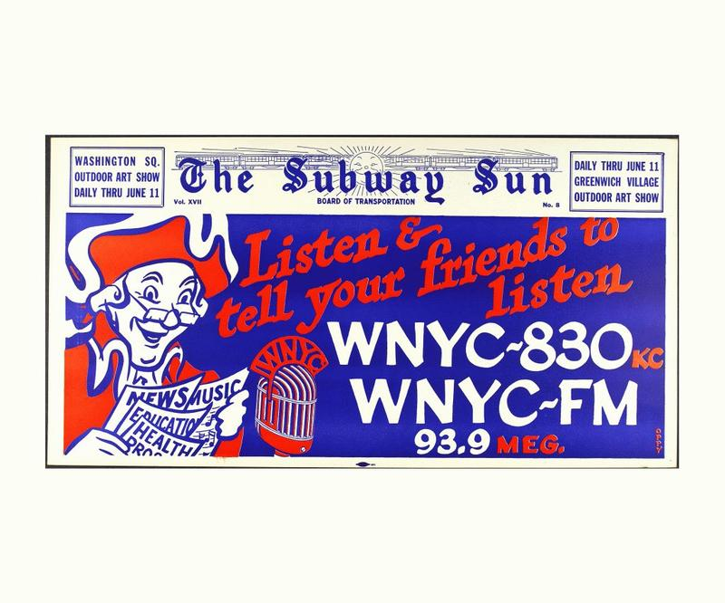 1950s WNYC Subway Ad