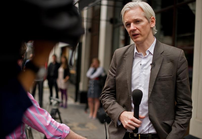Australian founder of whistleblowing website, 'WikiLeaks', Julian Assange, speaks to media after giving a press conference in London on July 26, 2010.