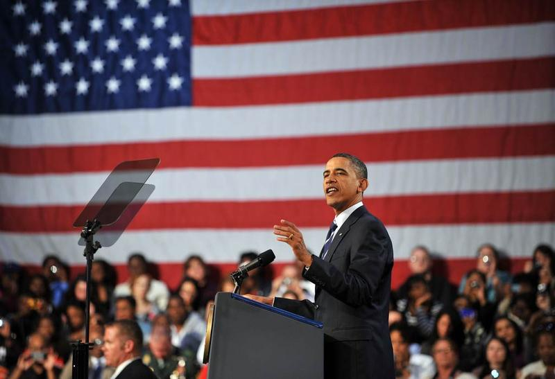 President Barack Obama makes remarks on the economy at Cuyahoga Community College West Campus on September 8, 2010 in Cleveland, Ohio.
