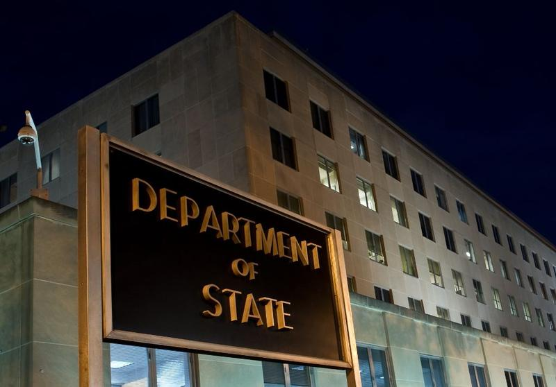 The US State Department is seen on November 29, 2010 in Washington, DC. Top US diplomat Hillary Clinton accused WikiLeaks of an 'attack' on the world, as key American allies were left red-faced.