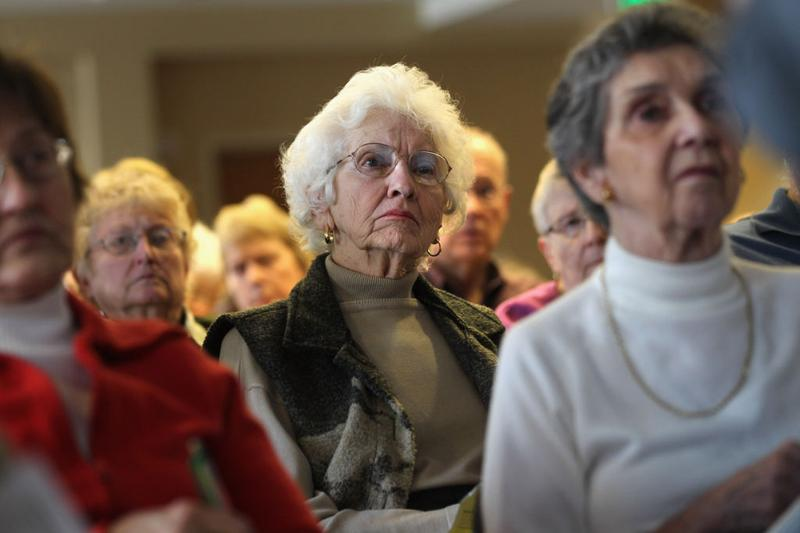 Seniors attend a 'Medicare Monday' seminar
